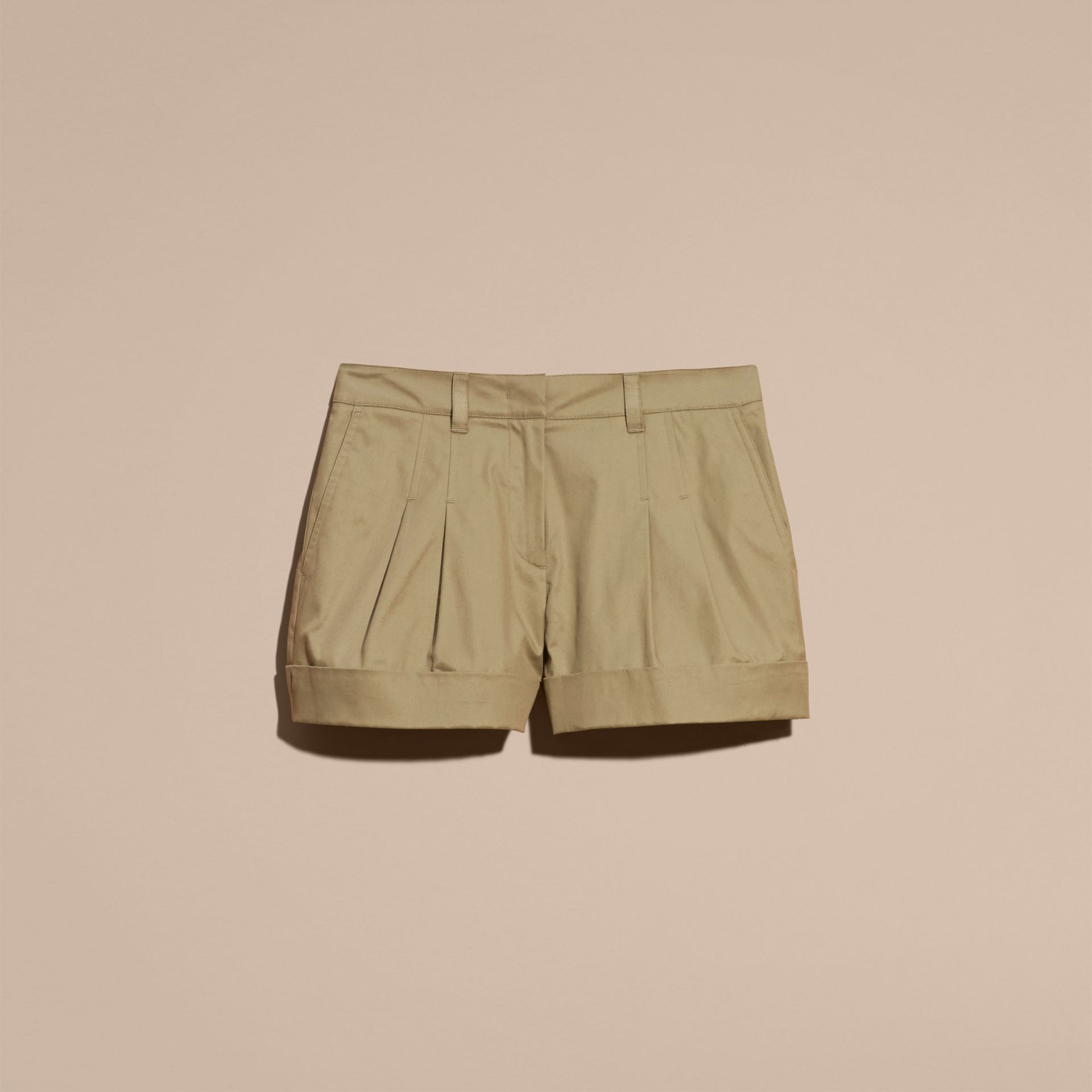 Sage Tailored Stretch Cotton Shorts - gallery image 4