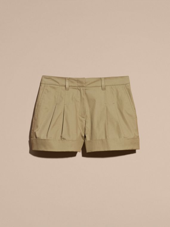 Sage Tailored Stretch Cotton Shorts - cell image 3