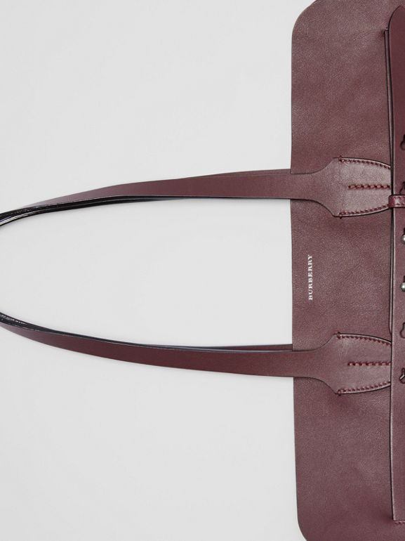 The Large Soft Leather Belt Bag in Deep Claret - Women | Burberry - cell image 1