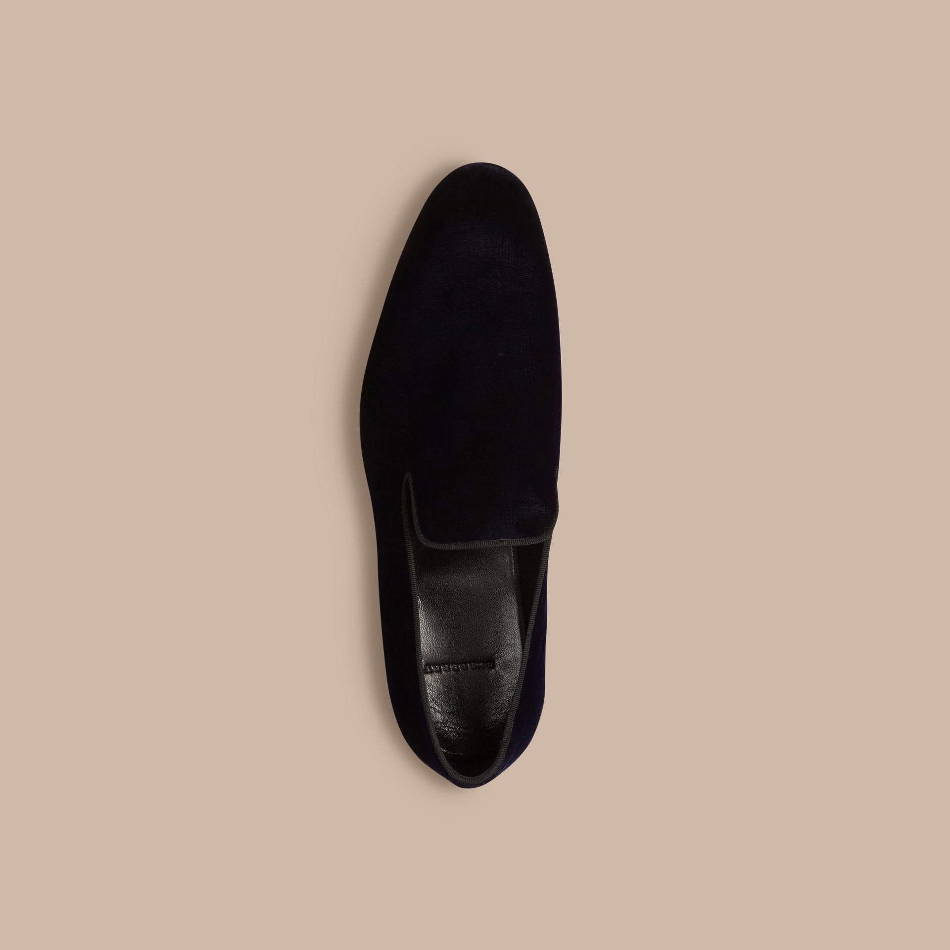 Dark indigo Velvet Loafers - gallery image 3