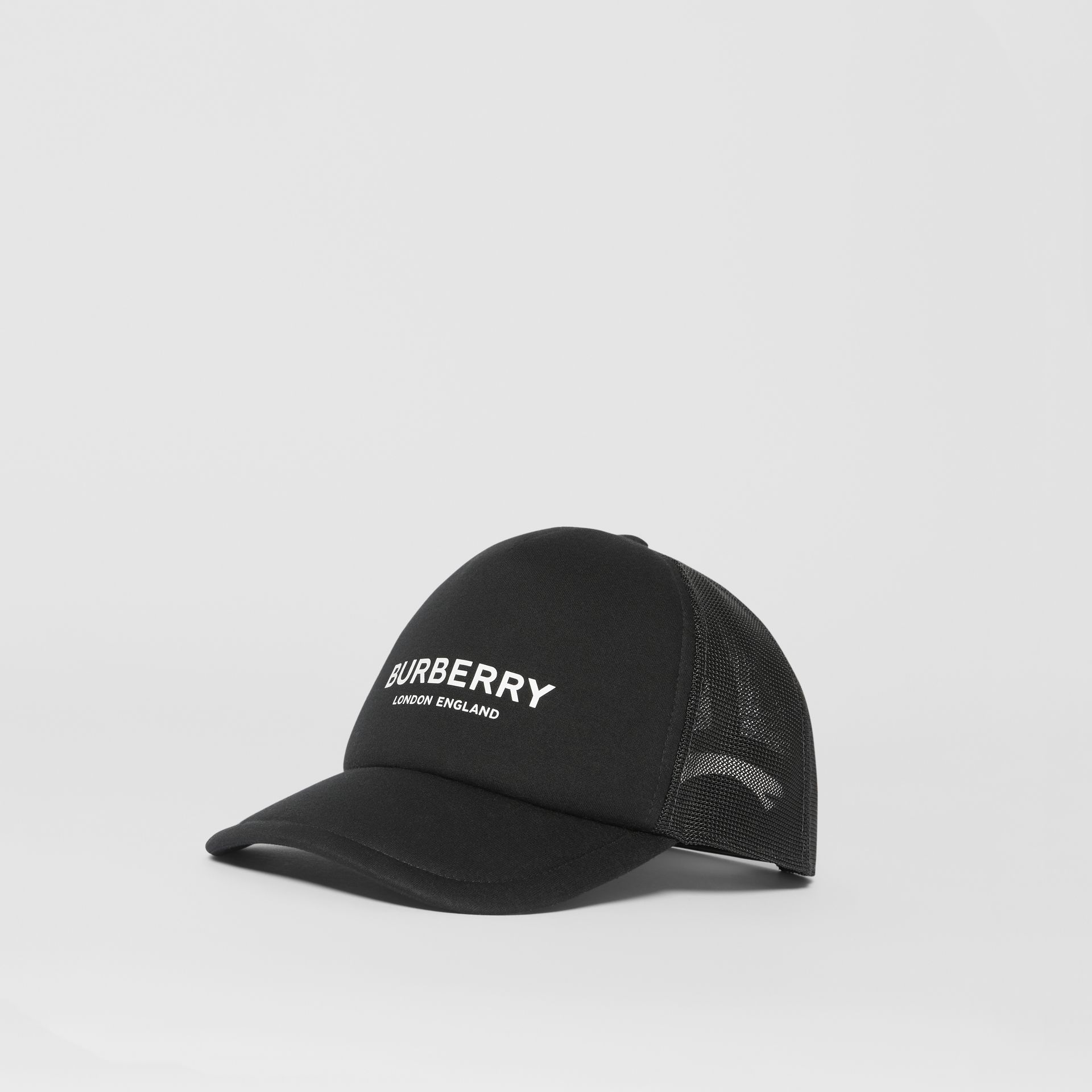 Logo Print Baseball Cap in Black | Burberry - gallery image 5