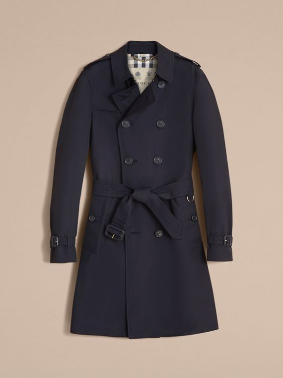 The Chelsea – Long Heritage Trench Coat in Navy - Men | Burberry - cell image 3