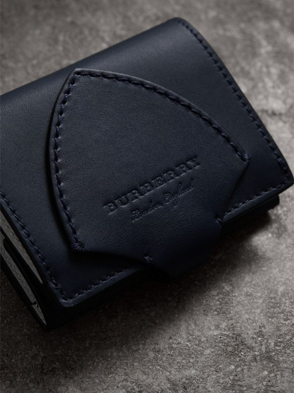 Equestrian Shield Leather Continental Wallet in Mid Indigo - Women | Burberry Canada - cell image 1