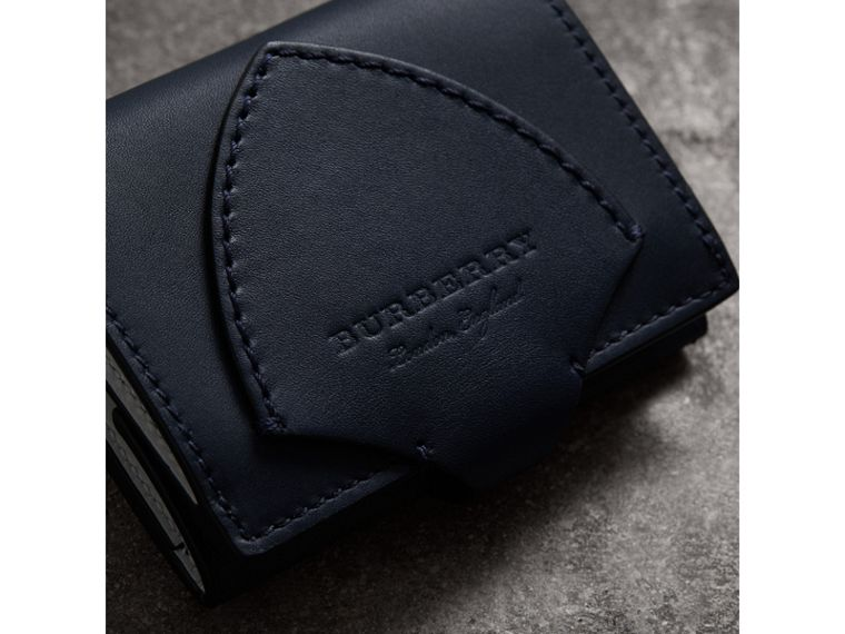 Equestrian Shield Leather Continental Wallet in Mid Indigo - Women | Burberry United States - cell image 1