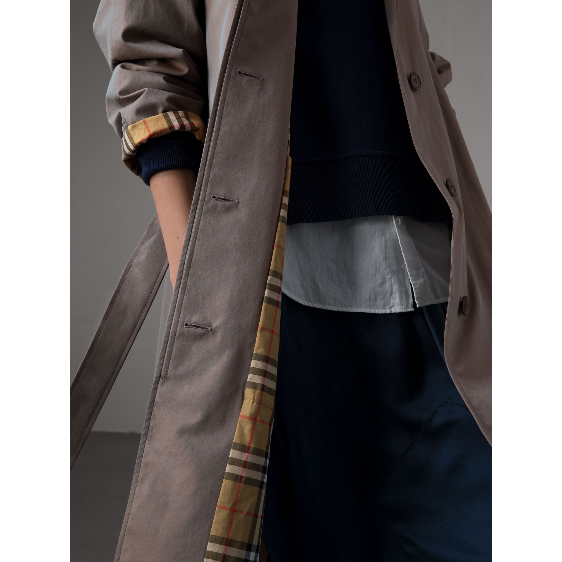 The Brighton Car Coat in Lilac Grey - Women | Burberry - gallery image 4