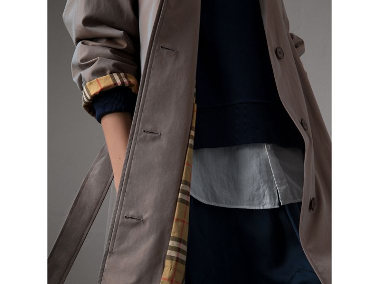 The Brighton Car Coat in Lilac Grey - Women | Burberry - cell image 4
