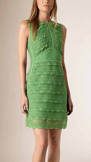 Japanese Lace Sleeveless Shift Dress