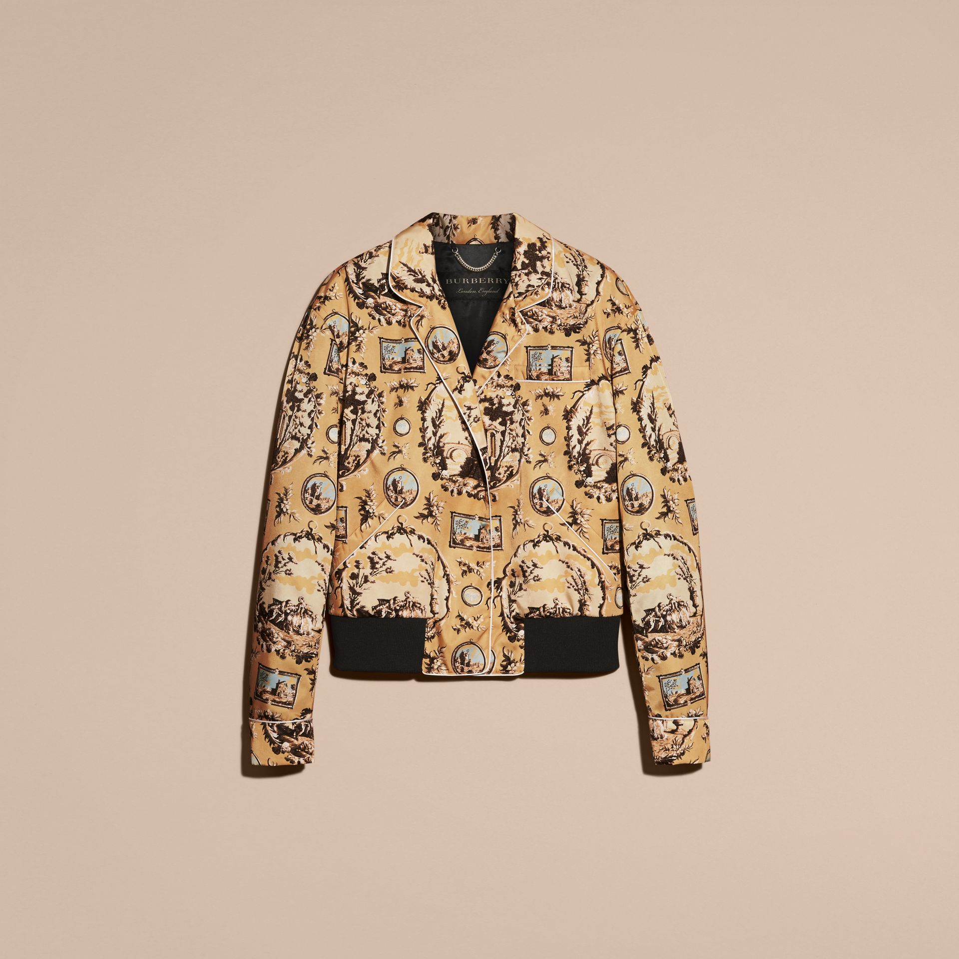 Yellow barley Wallpaper Print Bomber Jacket - gallery image 4