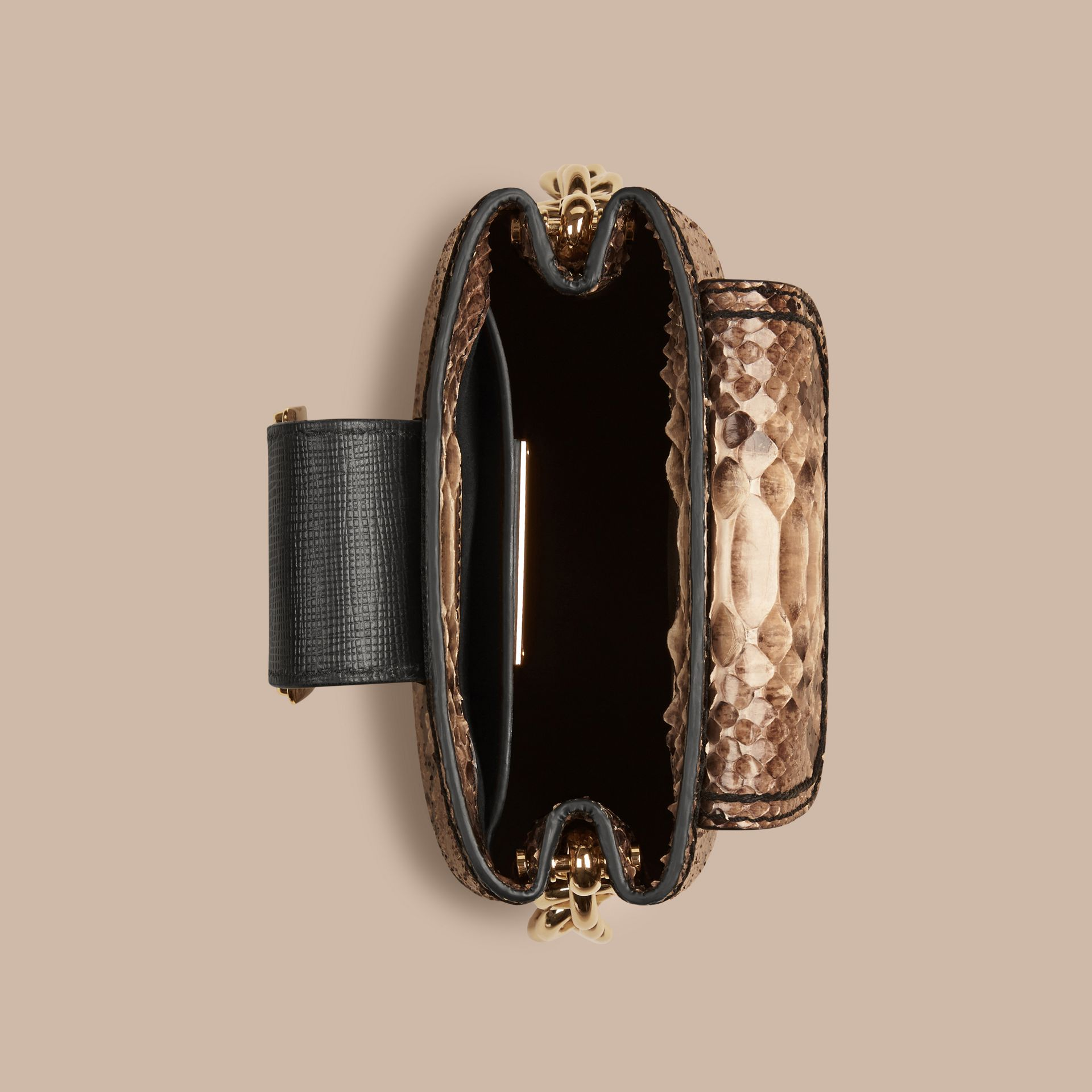 The Small Square Buckle Bag in Python Limited Edition - gallery image 5