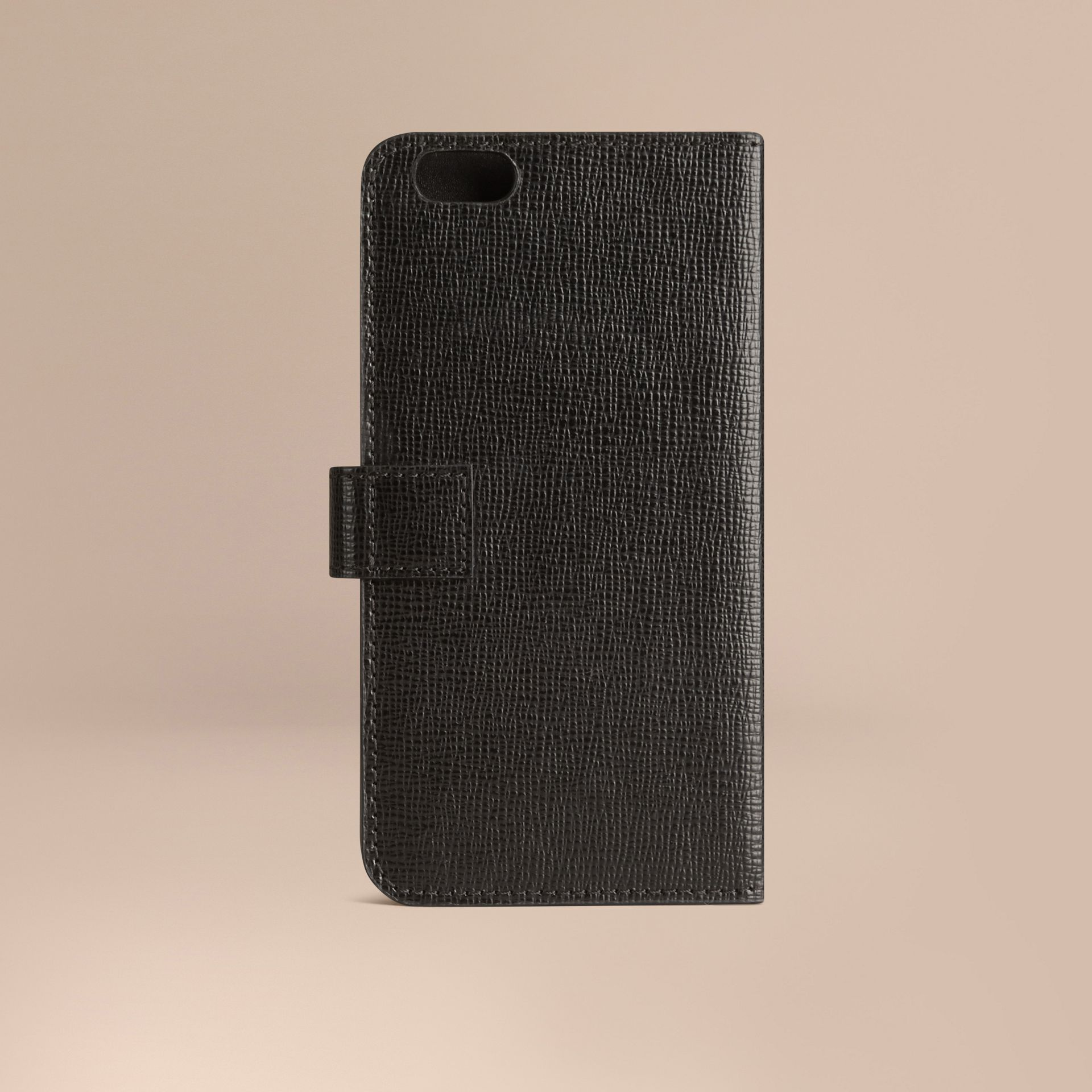 Black London Leather iPhone 6 Flip Case Black - gallery image 3