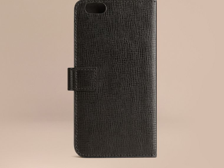 Black London Leather iPhone 6 Flip Case Black - cell image 2