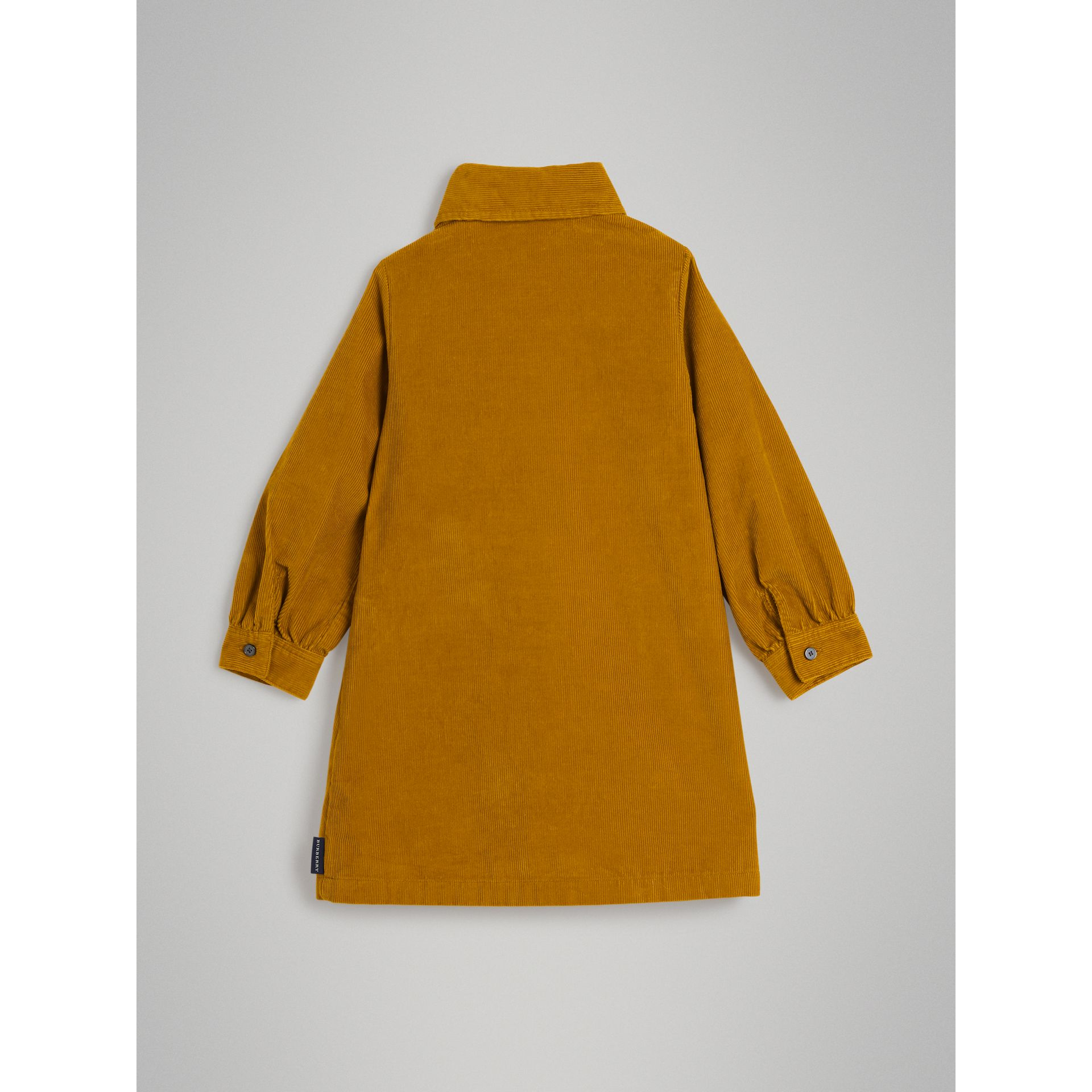 Corduroy Shirt Dress in Ochre | Burberry United Kingdom - gallery image 3