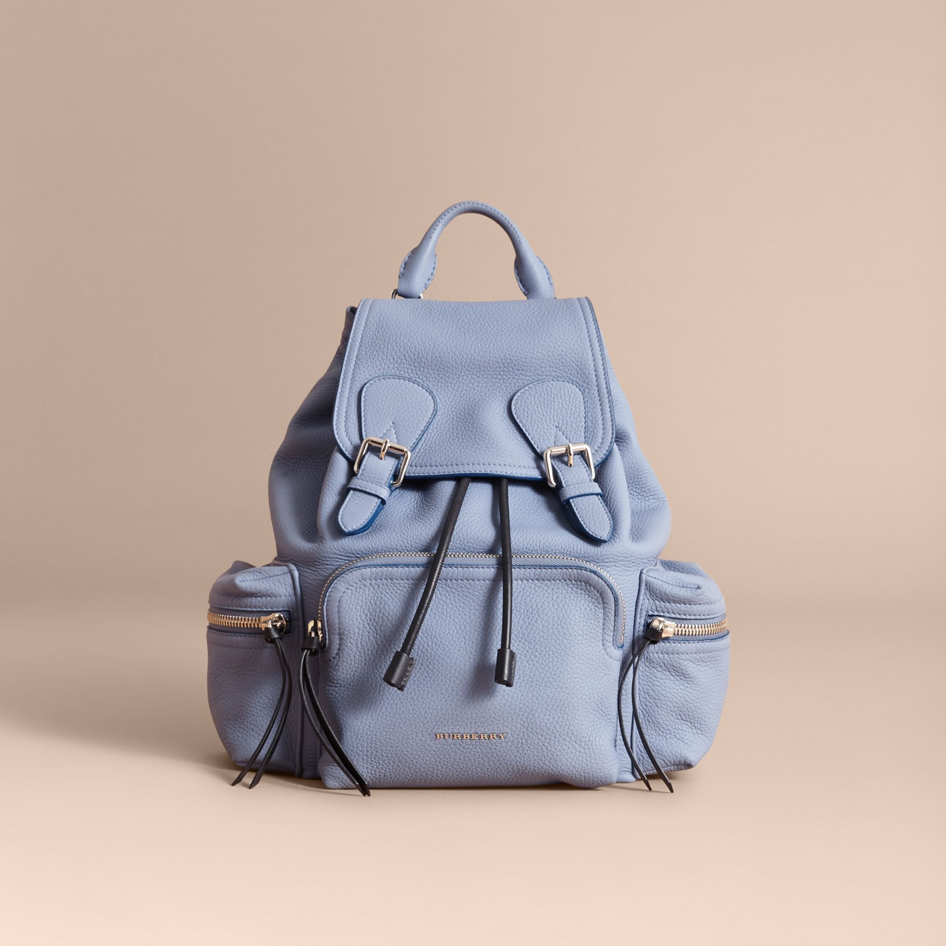 The Medium Rucksack in Deerskin with Resin Chain in Slate Blue - Women | Burberry United Kingdom - gallery image 7