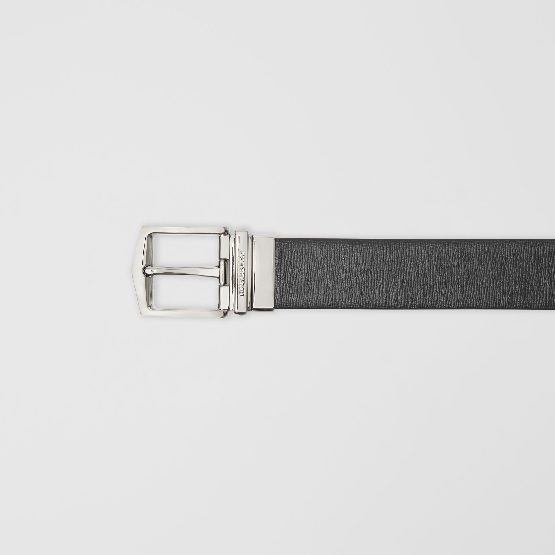 Reversible London Leather Belt in Black/chocolate - Men | Burberry - gallery image 1