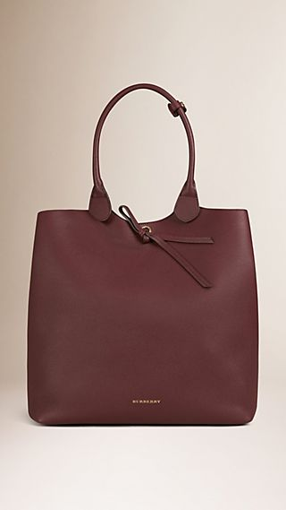 Large Grainy Leather Tote Bag