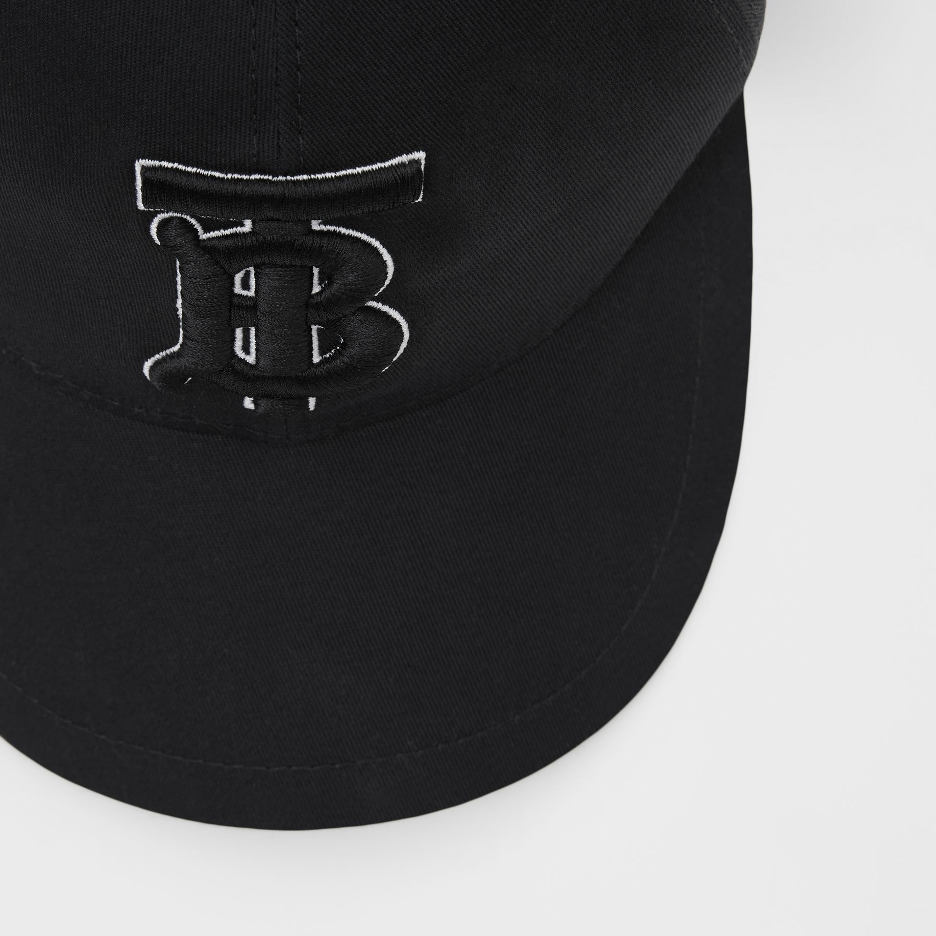 Monogram Motif Baseball Cap in Black / Black | Burberry - gallery image 1