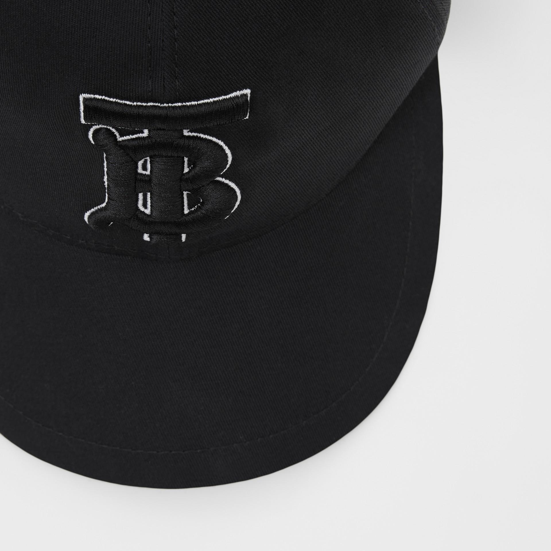 Casquette de baseball Monogram (Noir/noir) | Burberry Canada - photo de la galerie 1