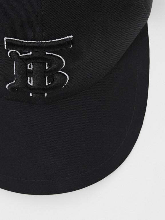Casquette de baseball Monogram (Noir/noir) | Burberry Canada - cell image 1