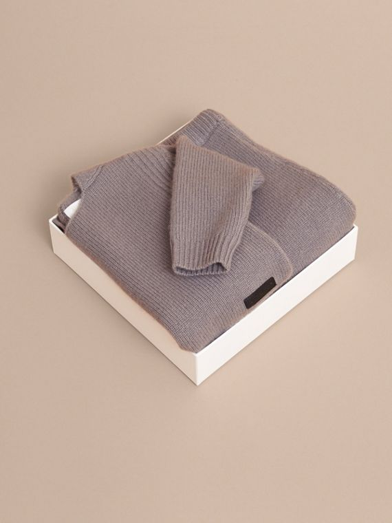 Cashmere Two-piece Baby Gift Set in Storm Grey | Burberry - cell image 3