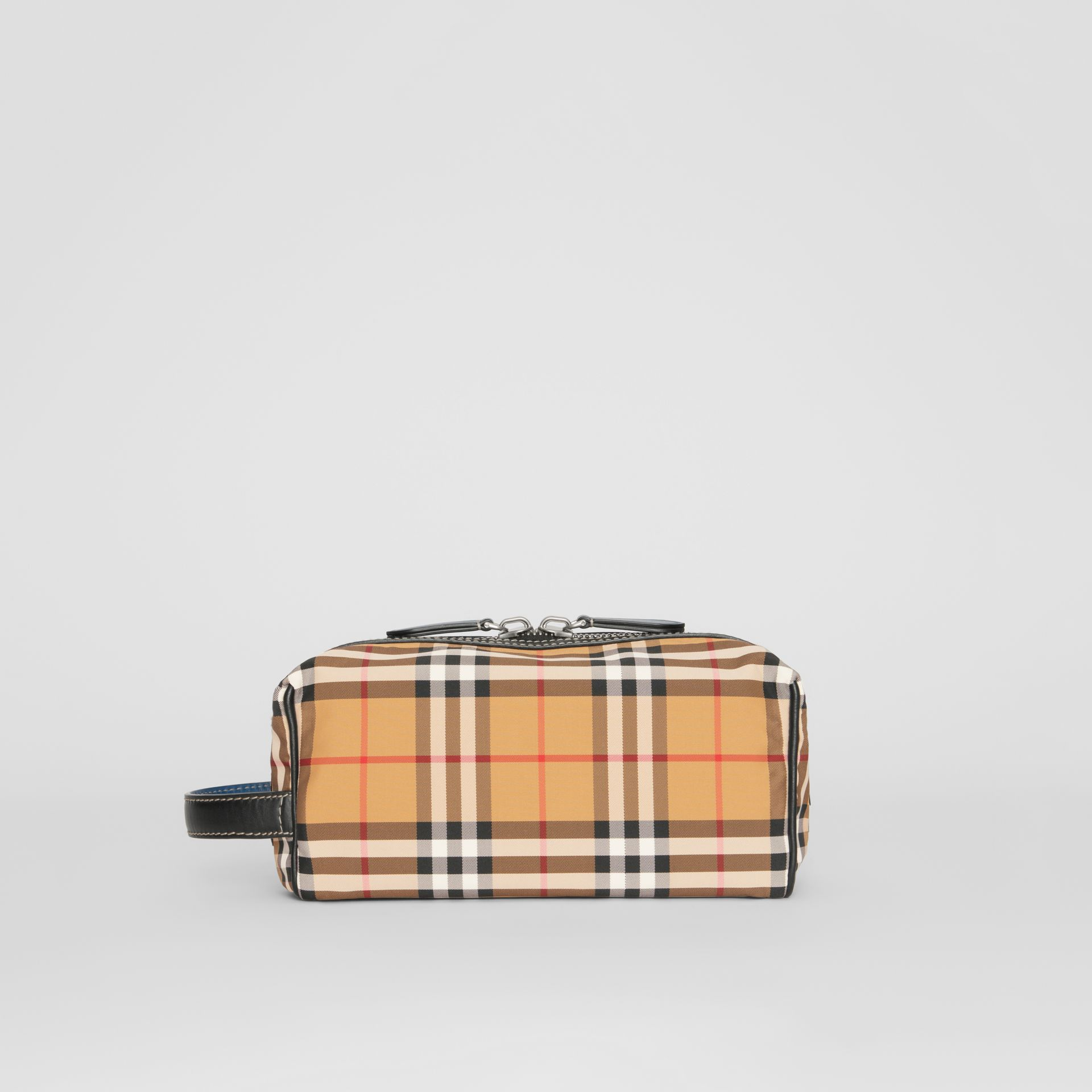 Vintage Check and Leather Pouch in Antique Yellow - Men | Burberry - gallery image 7