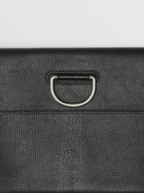 D-ring Leather Pouch in Black - Women | Burberry Australia - cell image 1