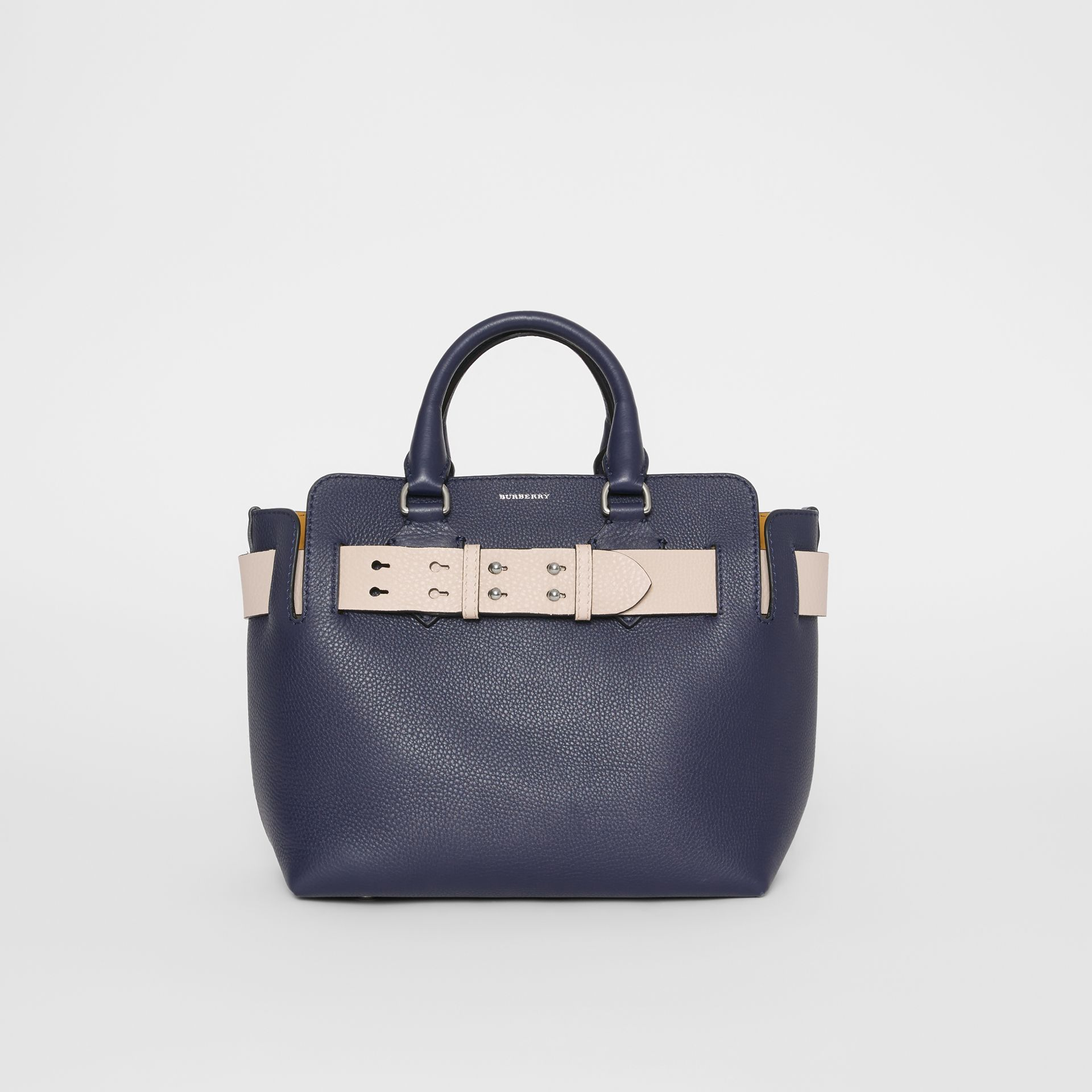 The Small Leather Belt Bag in Regency Blue - Women | Burberry United States - gallery image 0