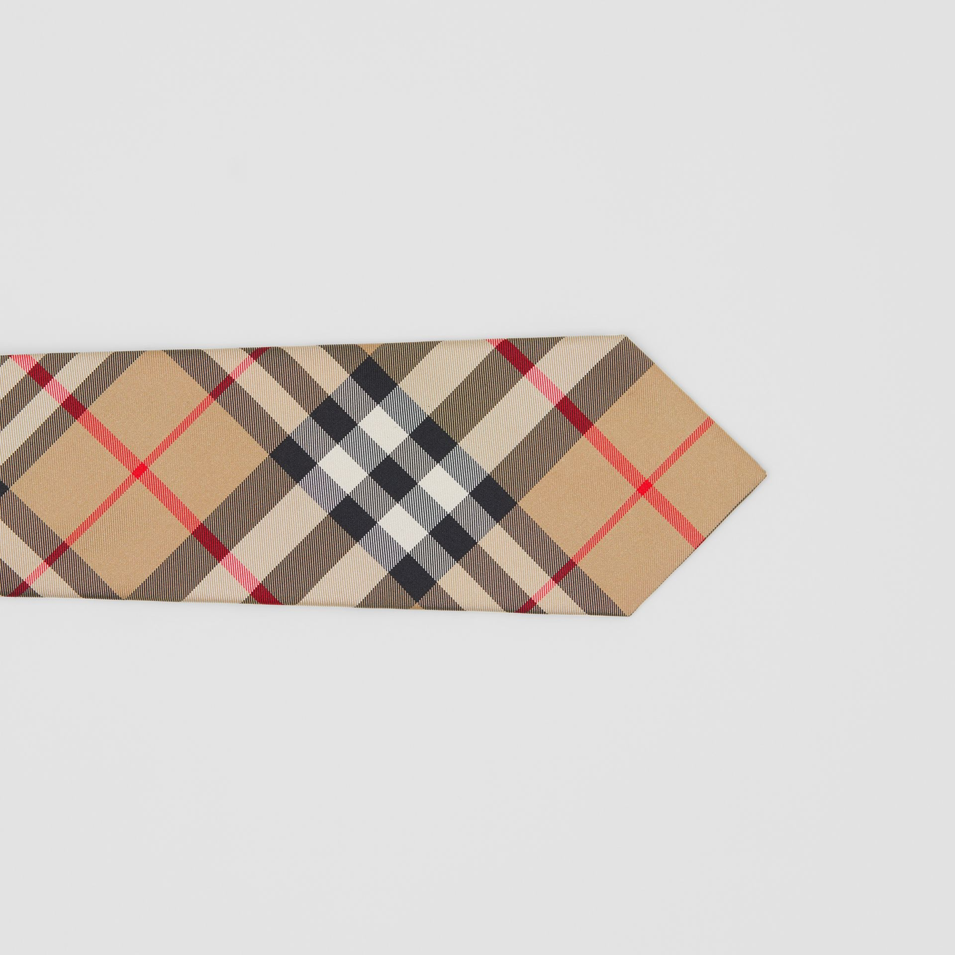 Classic Cut Check Silk Tie in Archive Beige - Men | Burberry Singapore - gallery image 1