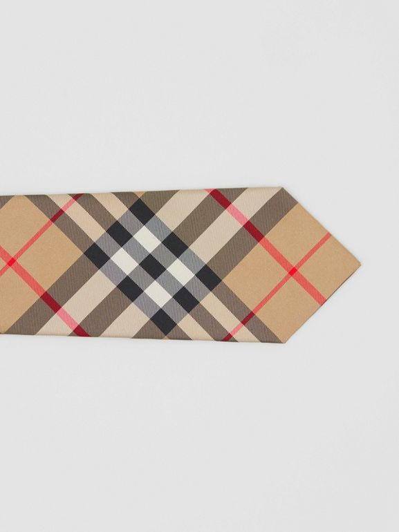 Classic Cut Check Silk Tie in Archive Beige - Men | Burberry Singapore - cell image 1
