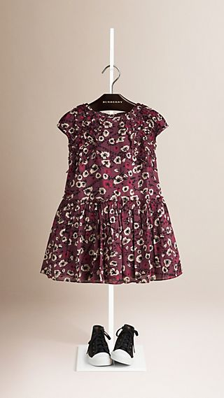 Ruched Detail Floral Cotton Dress