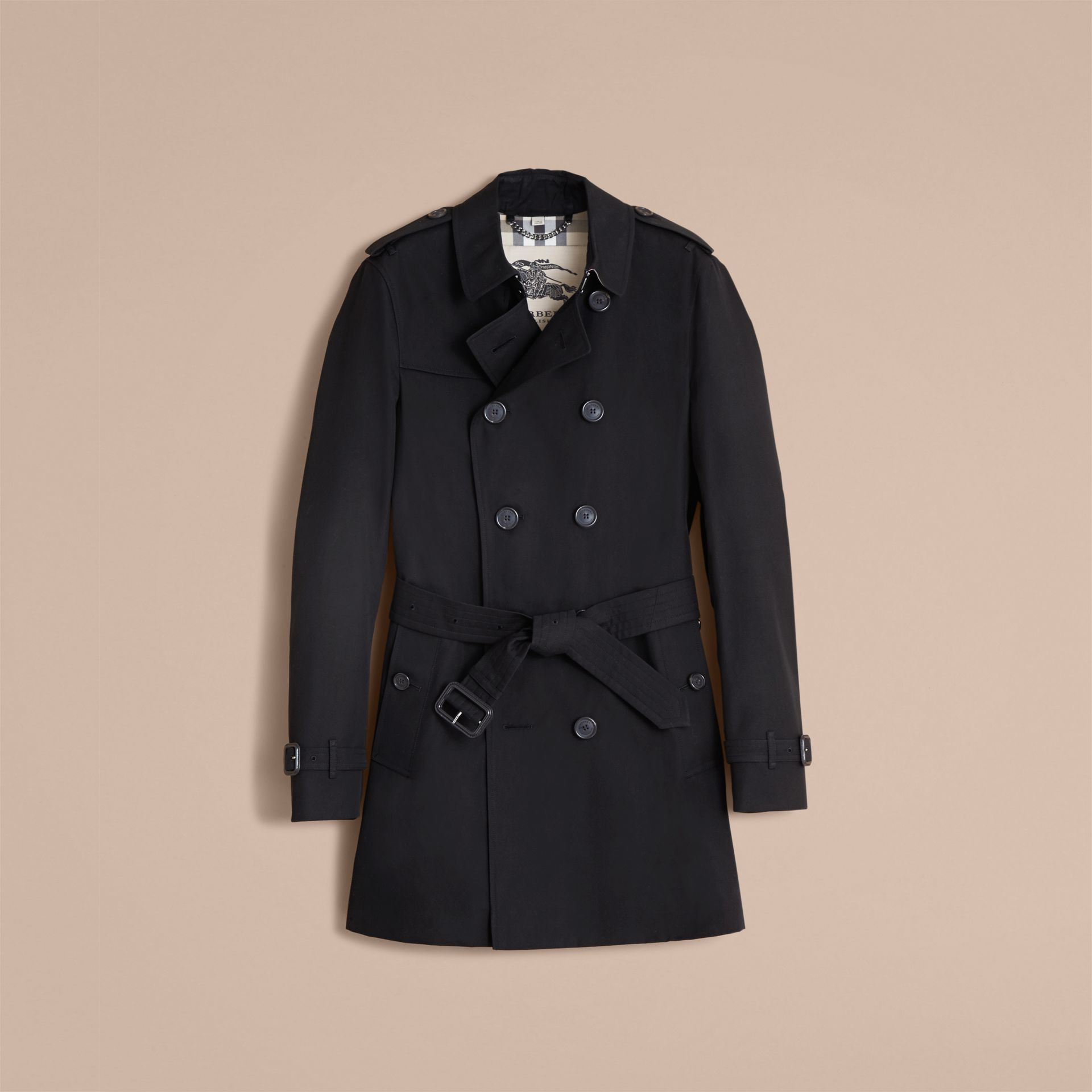 The Chelsea – Mid-length Heritage Trench Coat in Black - gallery image 4