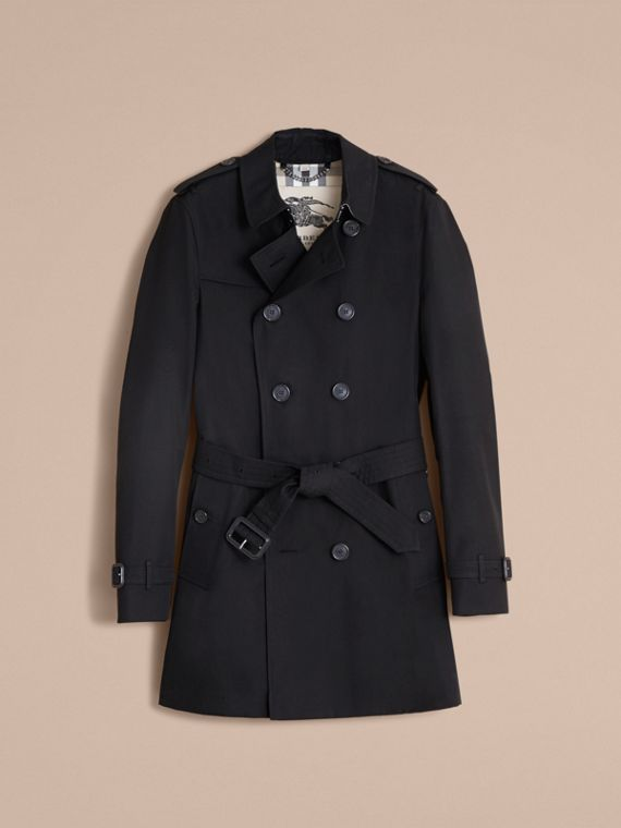 The Chelsea – Mid-length Heritage Trench Coat in Black - cell image 3