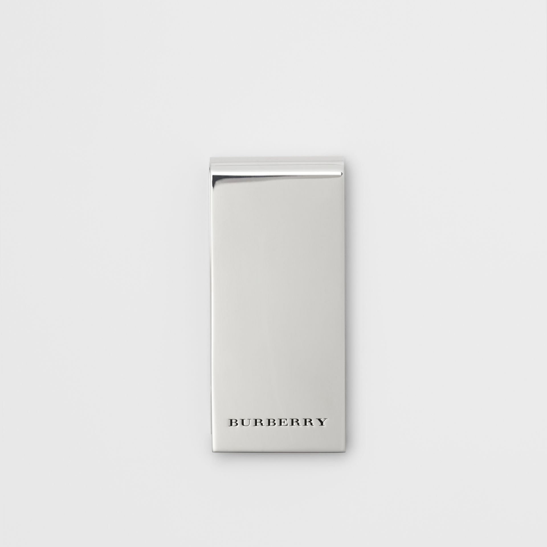 Brass Money Clip in Silver - Men | Burberry United States - gallery image 0