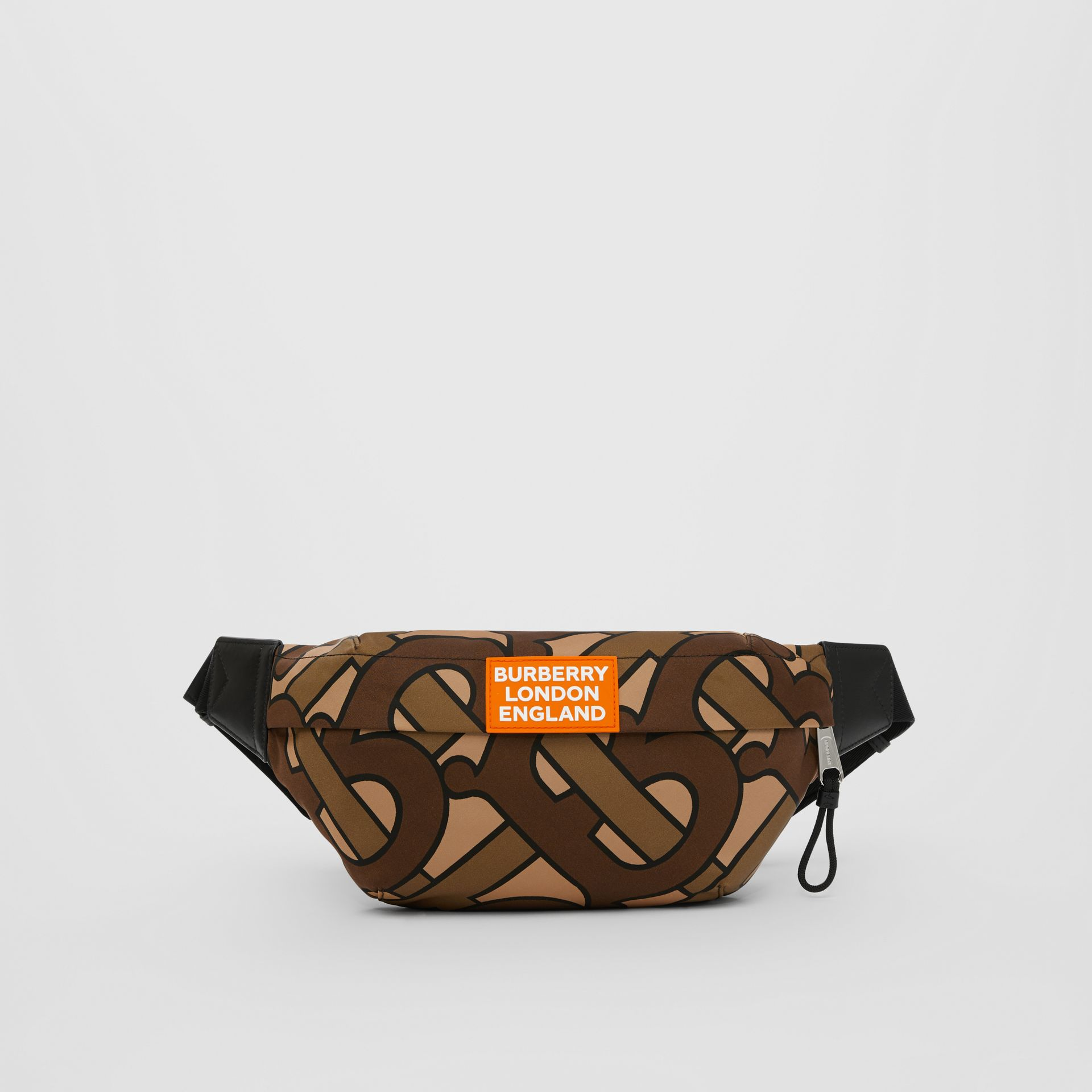 Monogram Print Nylon Sonny Bum Bag in Bridle Brown - Men | Burberry - gallery image 0