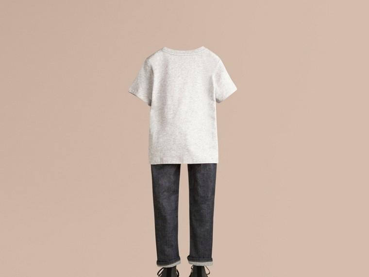 Grey melange Check Pocket T-Shirt - cell image 2