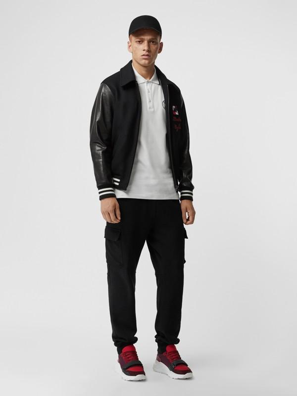 Polo in cotone piqué con logo ricamato (Bianco) - Uomo | Burberry - cell image 3