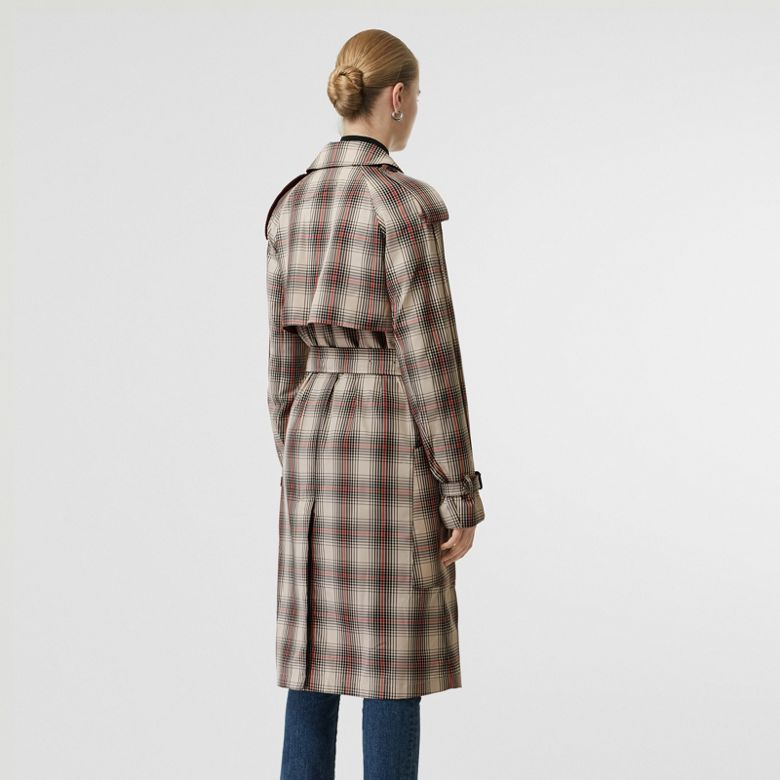 Burberry - Leichter Trenchcoat mit Karomuster - 3