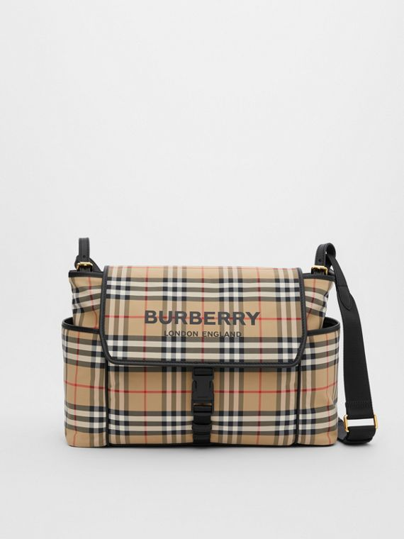 Vintage Check ECONYL® Baby Changing Bag in Archive Beige