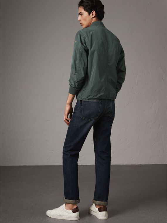 Shape-memory Taffeta Bomber Jacket in Smokey Green - Men | Burberry - cell image 2