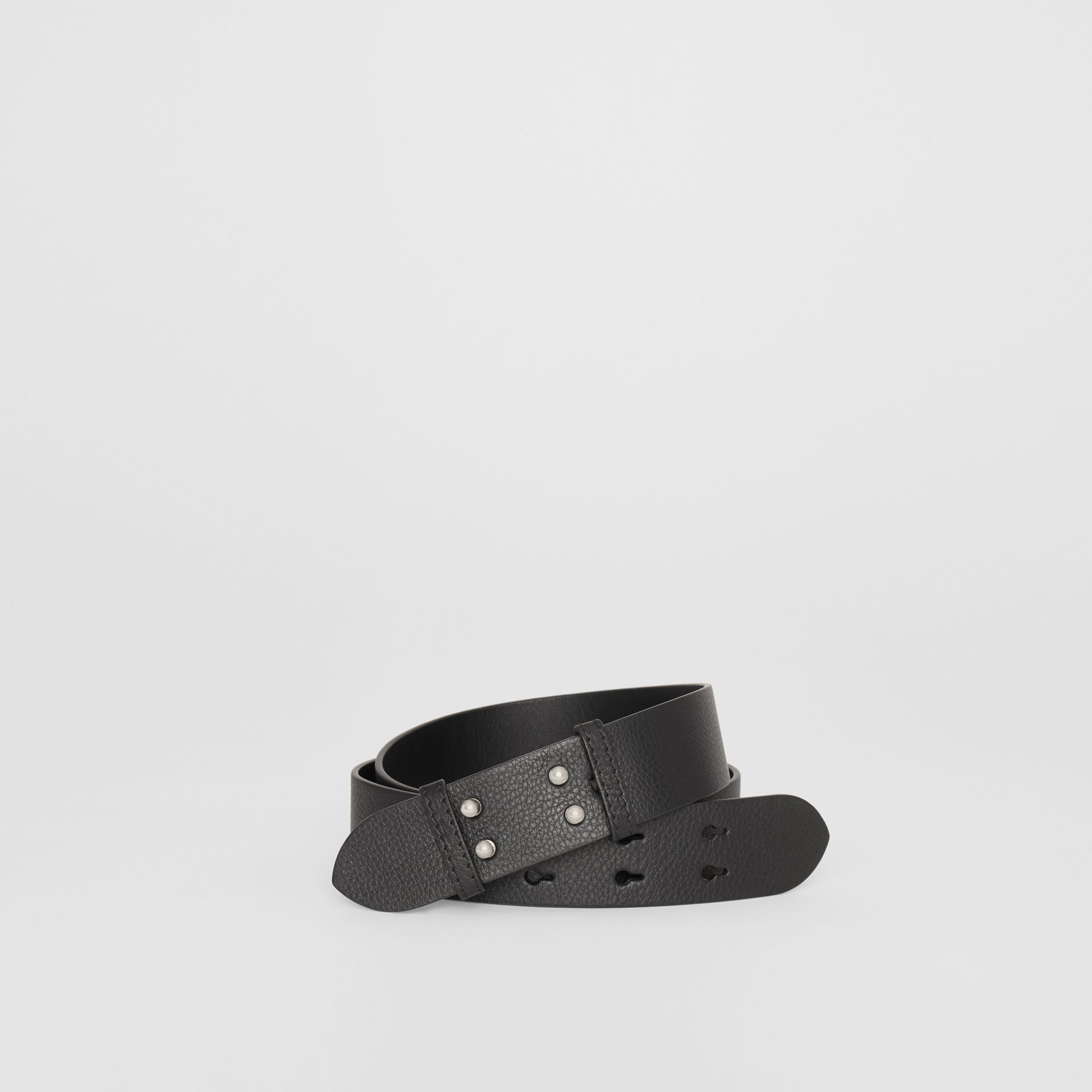 The Medium Belt Bag Grainy Leather Belt in Black - Women | Burberry - gallery image 0