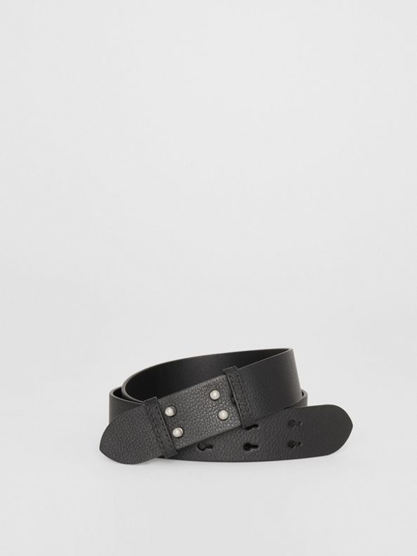 The Medium Belt Bag Grainy Leather Belt in Black