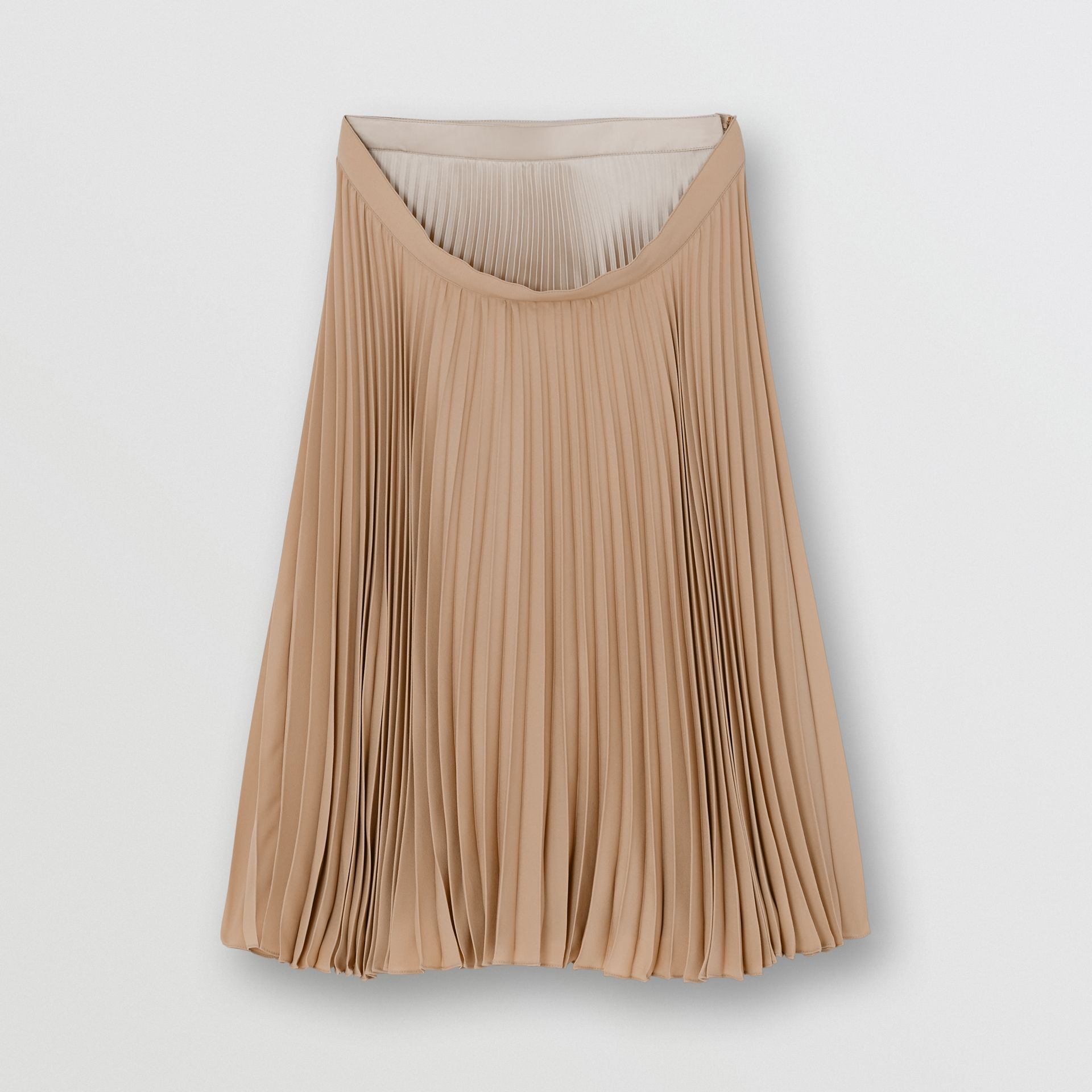 Pleated Double-waist Skirt in Sandbank - Women | Burberry Australia - gallery image 3