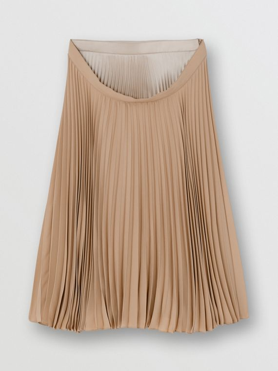 Pleated Double-waist Skirt in Sandbank
