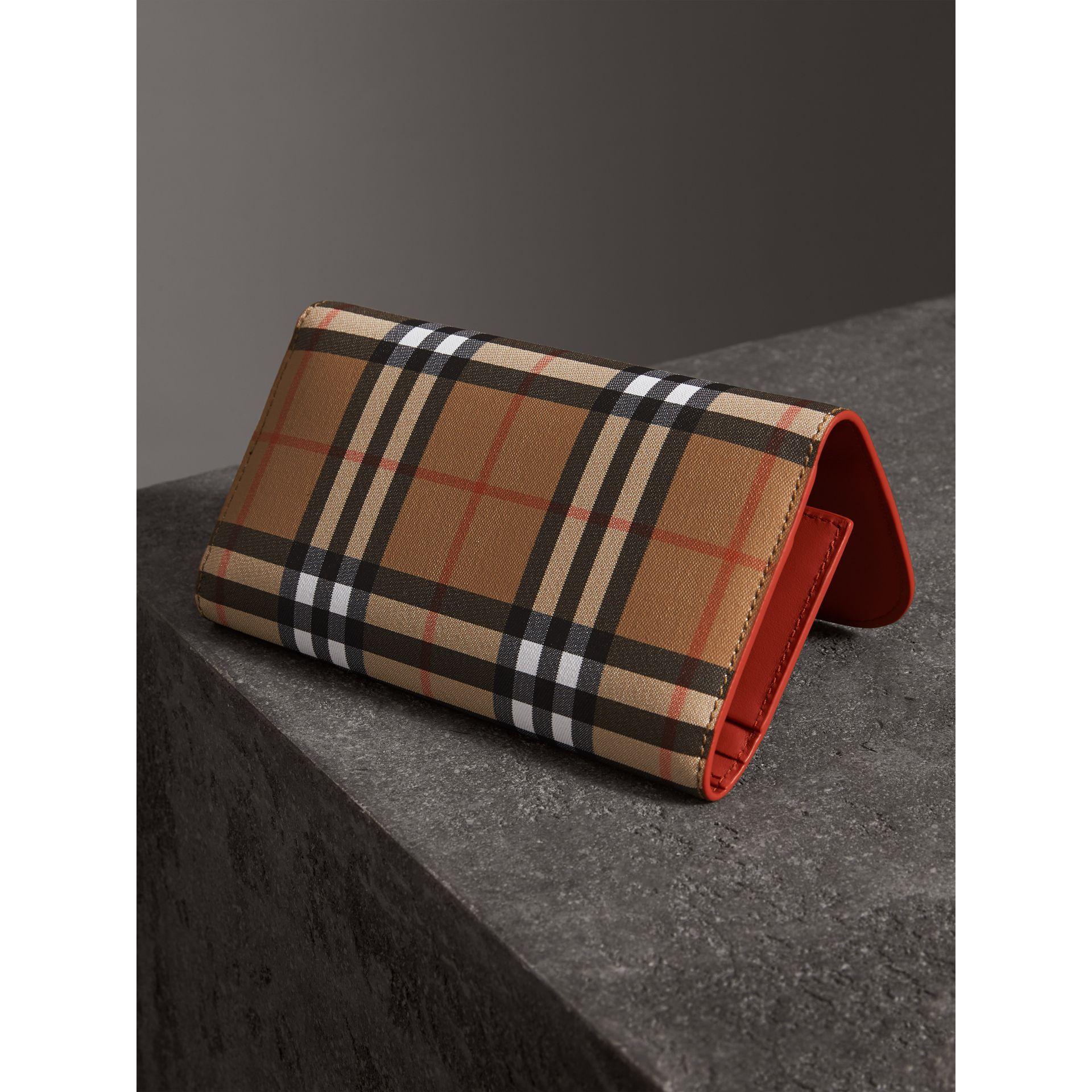 Vintage Check Continental Wallet and Pouch in Clementine - Women | Burberry United Kingdom - gallery image 2