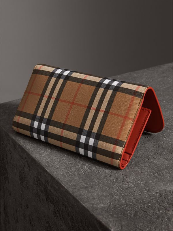 Vintage Check Continental Wallet with Zip Card Case in Clementine - Women | Burberry - cell image 2