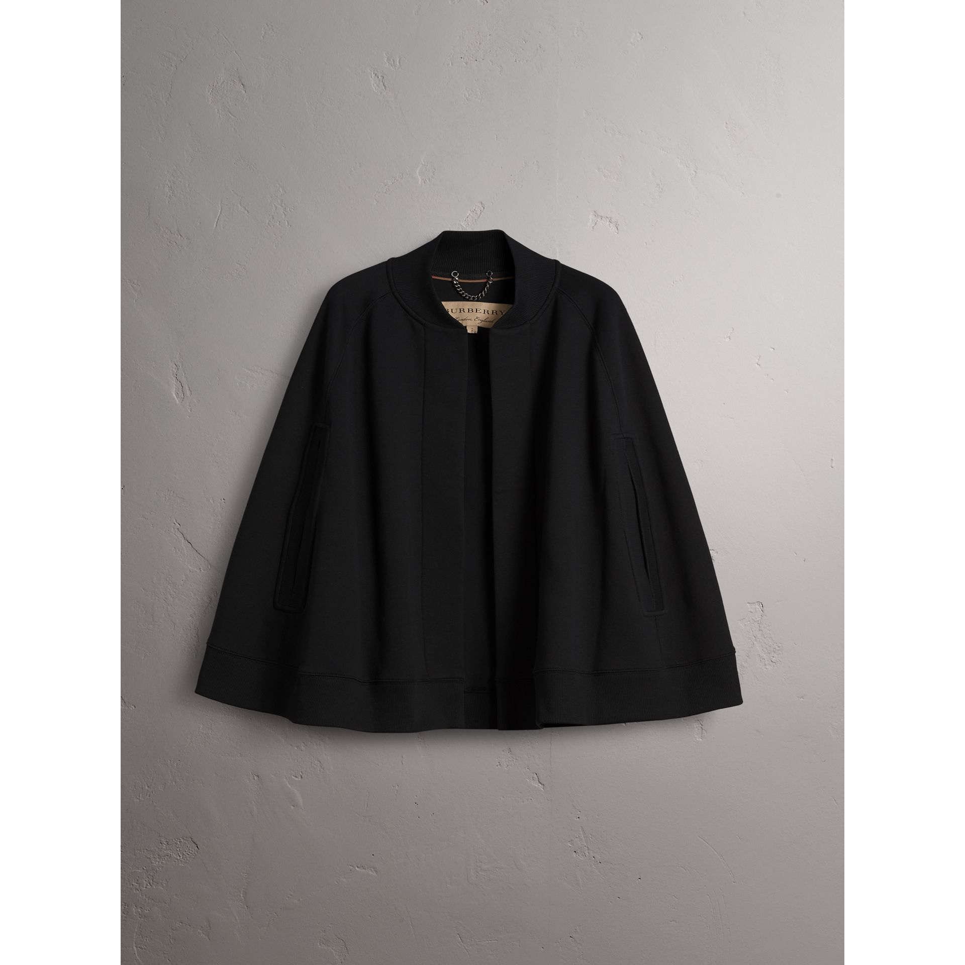 Embroidered Jersey Cape in Black - Women | Burberry - gallery image 4