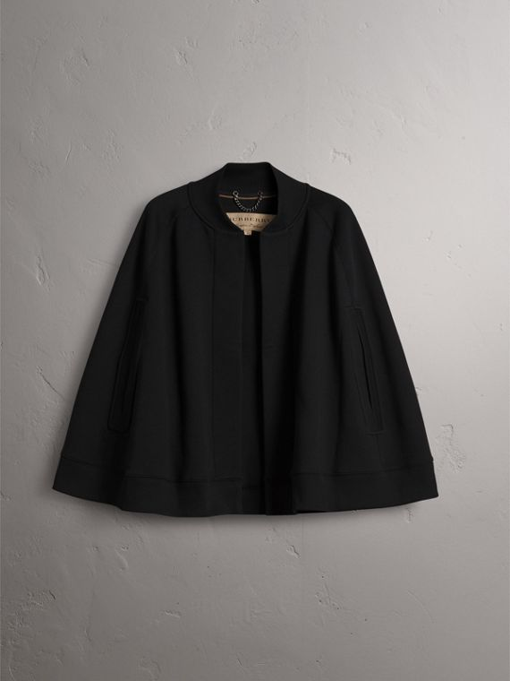 Embroidered Jersey Cape in Black - Women | Burberry - cell image 3