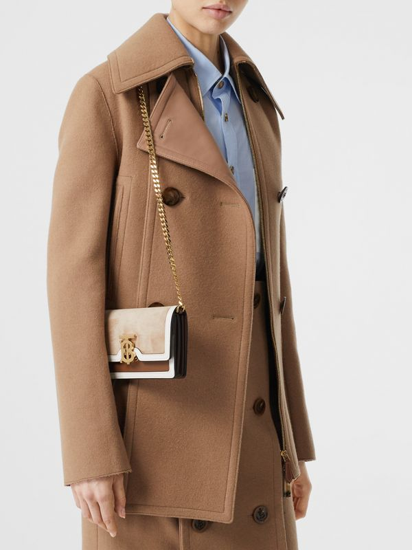 Mini Suede and Two-tone Leather Shoulder Bag in Biscuit - Women | Burberry United Kingdom - cell image 2