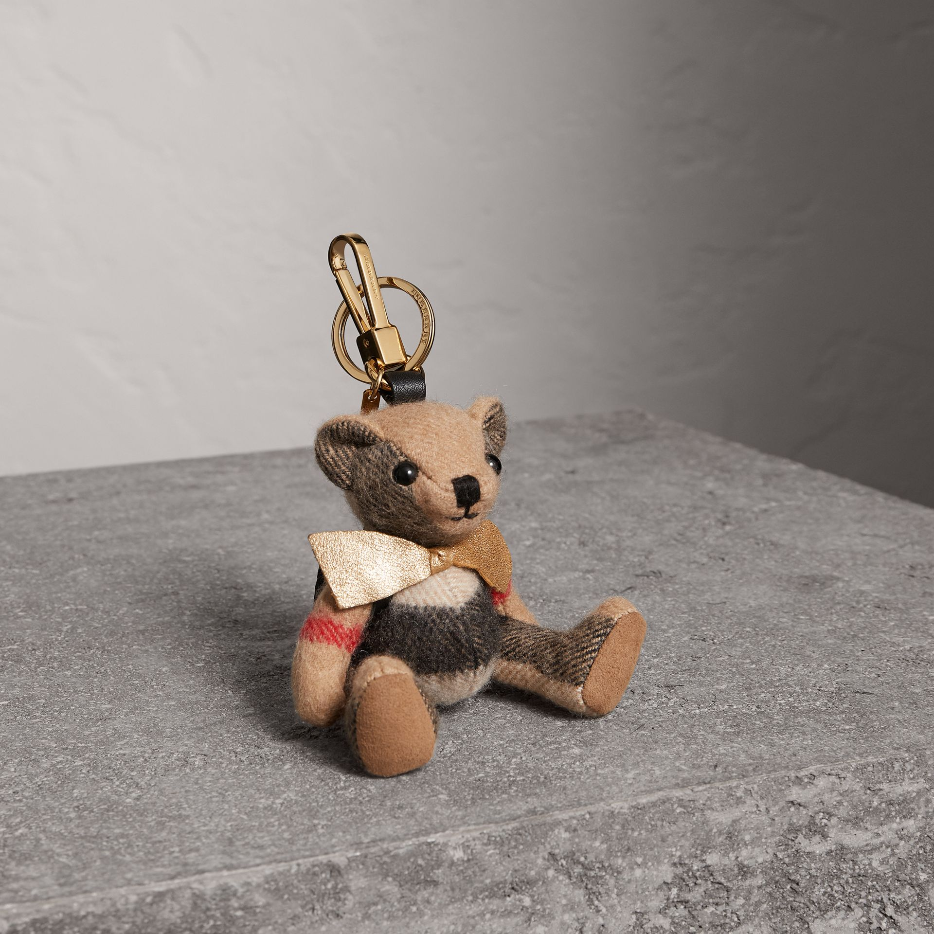 Thomas Bear Charm with Rucksack in Camel | Burberry Canada - gallery image 0