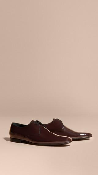 Chaussures à lacets en cuir ciré