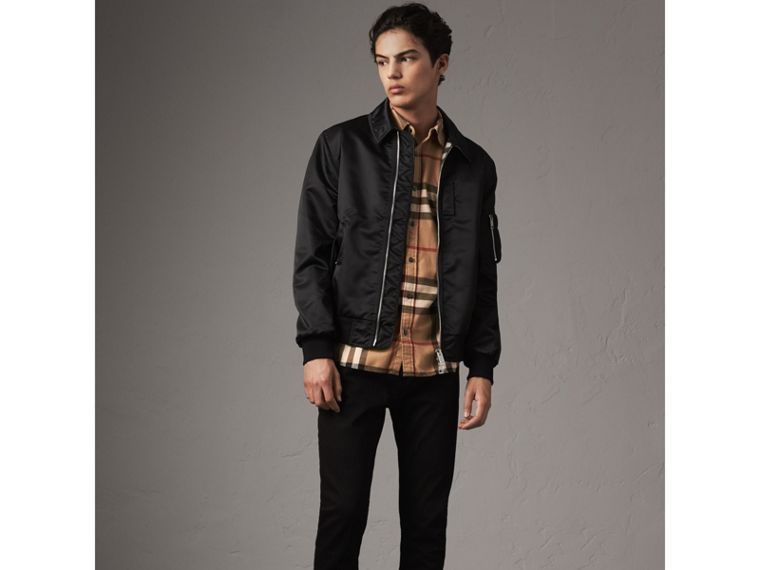 Check Cotton Flannel Shirt in Camel - Men | Burberry Singapore - cell image 4